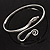 Rhodium Plated Snake Upper Arm Bracelet Armlet - view 4