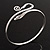 Rhodium Plated Snake Upper Arm Bracelet Armlet - view 5