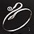 Rhodium Plated Snake Upper Arm Bracelet Armlet