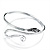 Rhodium Plated Snake Upper Arm Bracelet Armlet - view 9