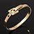 Gold Plated 'Belt' Bangle Bracelet - Adjustable up to 19cm Length