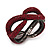 Burgundy Red Swarovski Crystal 'Figure Of Eight' Hinged Bangle Bracelet - 18cm Length - view 2
