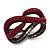 Burgundy Red Swarovski Crystal 'Figure Of Eight' Hinged Bangle Bracelet - 18cm Length - view 8