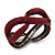 Burgundy Red Swarovski Crystal 'Figure Of Eight' Hinged Bangle Bracelet - 18cm Length - view 4