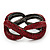 Burgundy Red Swarovski Crystal 'Figure Of Eight' Hinged Bangle Bracelet - 18cm Length - view 1