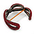 Burgundy Red Swarovski Crystal 'Figure Of Eight' Hinged Bangle Bracelet - 18cm Length - view 5