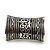 Wide Rhodium Plated Roman Etched Cuff - 95mm Height - view 8