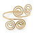 Egyptian Style Twirl Upper Arm, Armlet Bracelet In Gold Plating - Adjustable - view 9