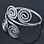 Egyptian Style Twirl Upper Arm, Armlet Bracelet In Rhodium Plating - Adjustable - view 6