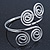 Egyptian Style Twirl Upper Arm, Armlet Bracelet In Rhodium Plating - Adjustable - view 8
