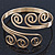 Greek Style Twirl Upper Arm, Armlet Bracelet In Gold Plating - Adjustable - view 7