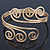 Greek Style Twirl Upper Arm, Armlet Bracelet In Gold Plating - Adjustable - view 8