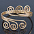 Greek Style Twirl Upper Arm, Armlet Bracelet In Gold Plating - Adjustable - view 9