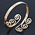 Greek Style Twirl Upper Arm, Armlet Bracelet In Gold Plating - Adjustable - view 4