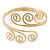 Greek Style Twirl Upper Arm, Armlet Bracelet In Gold Plating - Adjustable - view 3