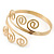 Greek Style Twirl Upper Arm, Armlet Bracelet In Gold Plating - Adjustable - view 10