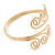 Greek Style Twirl Upper Arm, Armlet Bracelet In Gold Plating - Adjustable - view 11