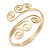 Greek Style Twirl Upper Arm, Armlet Bracelet In Gold Plating - Adjustable