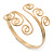 Greek Style Twirl Upper Arm, Armlet Bracelet In Gold Plating - Adjustable - view 6