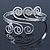 Greek Style Twirl Upper Arm, Armlet Bracelet In Silver Plating - Adjustable - view 6