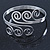 Greek Style Twirl Upper Arm, Armlet Bracelet In Silver Plating - Adjustable - view 5