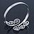 Greek Style Twirl Upper Arm, Armlet Bracelet In Silver Plating - Adjustable - view 3