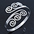 Greek Style Twirl Upper Arm, Armlet Bracelet In Silver Plating - Adjustable - view 2