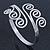 Greek Style Twirl Upper Arm, Armlet Bracelet In Silver Plating - Adjustable - view 4