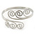 Greek Style Twirl Upper Arm, Armlet Bracelet In Silver Plating - Adjustable - view 8