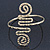 Greek Style Hammered Swirl Upper Arm, Armlet Bracelet In Gold Plating - Adjustable - view 1