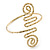 Greek Style Hammered Swirl Upper Arm, Armlet Bracelet In Gold Plating - Adjustable - view 3