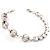 Silver Tone Crystal Kiss Bracelet