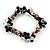 Black Candy Glass Bead Flex Bracelet