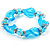 Sky Blue Twisted Flex Glass Bracelet