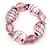 Bold Pink Glass Flex Bracelet