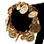 Gold Tone Coin Link Flex Bracelet - view 4