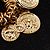 Gold Tone Coin Link Flex Bracelet - view 6