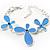 Blue Enamel Floral Bracelet
