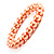 Peach Coloured Pearl Style Flex Bracelet -8mm - view 2