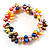Multicoloured Cultured Freshwater Pearl Flex Bracelet - view 1