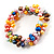 Multicoloured Cultured Freshwater Pearl Flex Bracelet - view 2