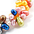 Multicoloured Cultured Freshwater Pearl Flex Bracelet - view 4