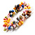 Multicoloured Cultured Freshwater Pearl Flex Bracelet - view 5