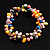 Multicoloured Cultured Freshwater Pearl Flex Bracelet - view 6