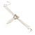 Delicate Crystal Bow Bracelet (Silver Tone) - view 6