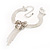 Delicate Crystal Bow Bracelet (Silver Tone) - view 8