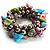 Multi-Coloured Sea Shell Flex Bracelet