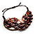 Multistrand Bead Bracelet (Chocolate&Amber Brown) - view 2