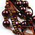 Multistrand Bead Bracelet (Chocolate&Amber Brown) - view 3