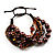 Multistrand Bead Bracelet (Chocolate&Amber Brown) - view 4